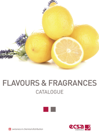 Flavours and fragrances catalogo ECSA Chemicals