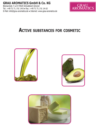 Active substances for cosmetic Grau Aromatics catalogo