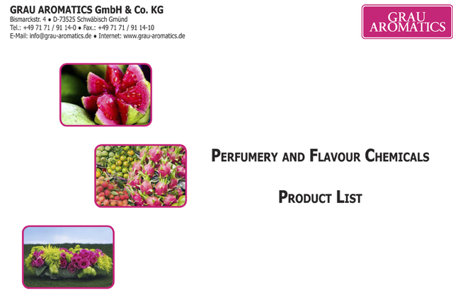 Perfumery and flavour chemicals product list Grau Aromatics